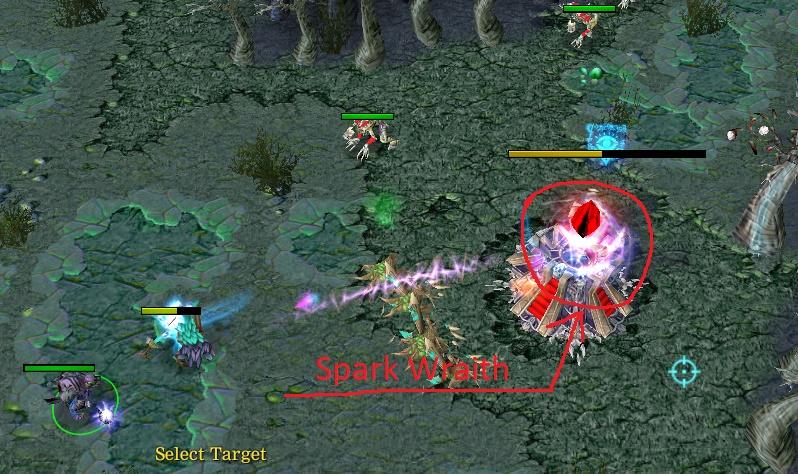 spark wraith in tower